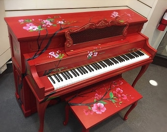 SALE Spring Melody - Hand Painted Piano