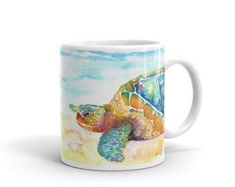 Mug - Rainbow Sea Turtle - 11 oz. or 15 oz.