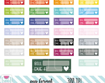 Bill Due Clipart. Personal and comercial use.
