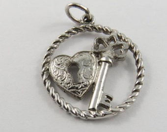 The Key to Someones Heart Sterling Silver Charm or Pendant.