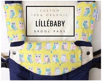 Custom ORGANIC Lillebaby suckpads and bib   Lillebaby drool pads   Custom - choose your fabric!