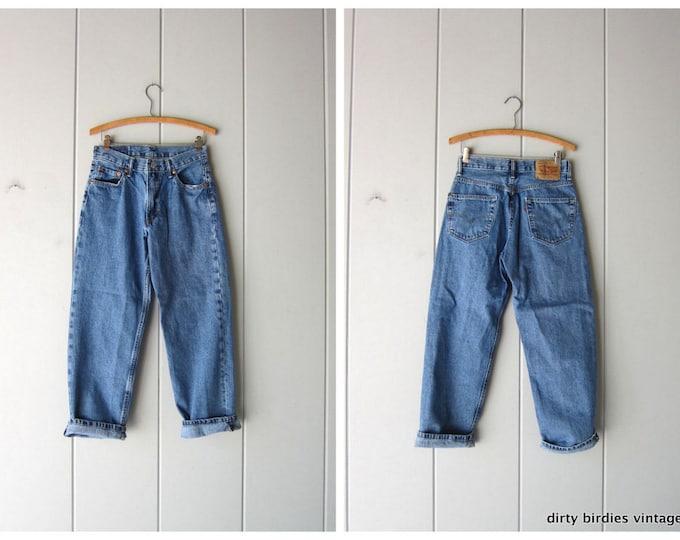 Vintage 90s LEVIS Jeans High Rise Denim Boyfriend Jeans Vintage High Waist Straight Leg Mom Jeans Blue Pants Hipster Womens 28''