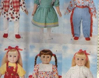 Doll wardrobe for 18 inch doll Butterick pattern