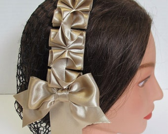 Civil War Hairnet - High Quality Satin Ribbon - Affordable Elegance, Choose Your Net