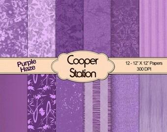 Digital Printable Paper Pack - Purple Haze DP027