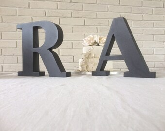Finished metal letters  wall letters metal letters metal wall decor letters wall metal wall letters large wall letters industrial decor