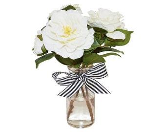 White Gardenias in Bottle, Faux