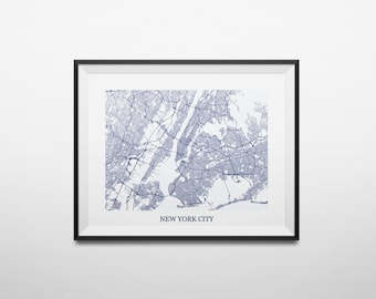 Queens ny map Etsy
