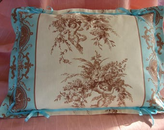 CUSHION IN SHABBY STYLE, ROMANTIC AND BAROQUE *.