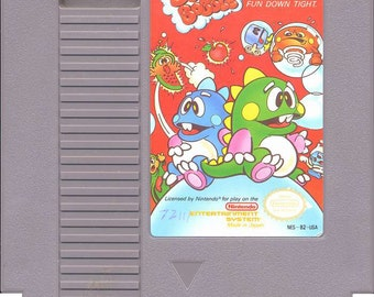 Bubble Bobble Nintendo Nes Game - Tested and Working - Video Game