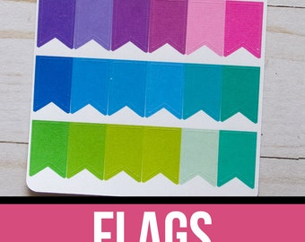 Flag Planner Stickers | Functional Planner Stickers | Page Flag Stickers | Colorful Flags | Erin Condren Planner Stickers | Happy Planner