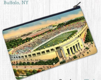 Civic Stadium / War Memorial (Buffalo, NY)—Pouch, Wallet, Wristlet, Coin Purse, Zipper Bag, Clutch, Pencil Case, Makeup Bag