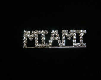 Custom Austrian Crystal 5-Letter Name/Team Name Pin- Any Name/Color Combination Available