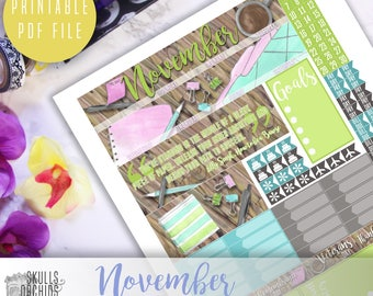 50% OFF! HAPPY PLANNER November Monthly View Kit – Printable Planner Stickers