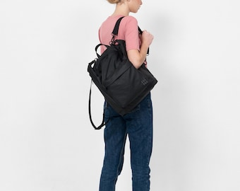 Small Black Diaper bag,Baby bag backpack,Nappy changing bag,Unique diaper bag,Stylish diaper bag,Diaper backpack, Unisex,Laptop backpack