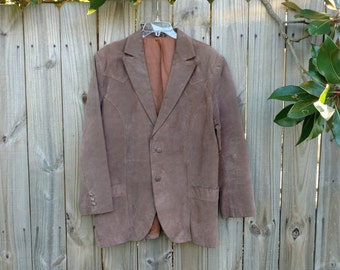 Vintage Leather Western Sport Coat Size 44L
