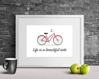 Father's Day Gift Idea - Bicycle Art - Gift for Him - Home Decor Wall Art - Wall Decor - Bike Art Print - Wall Art Print - Inspirational Art