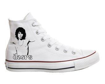 Converse shoes Jim Morrison The doors hand-painted