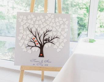 Wedding Tree Guestbook alternative Wood Birds