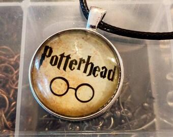 Harry Potter Necklace - Cabochon Necklace - Potterhead Necklace - Hogwarts Necklace
