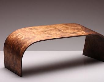 Von Hand gefertigte Meditation Bank - ZenWork. Dunkles Holz