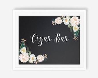 Chalkboard cigar, chalkboard cigar bar, wedding cigar bar, sign for cigar, cigar bar, cigar bar wedding, wedding cigar, wedding cigar A119