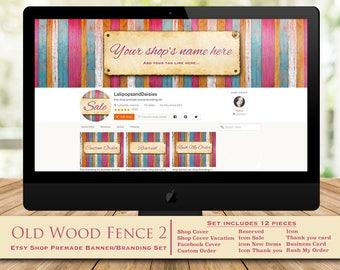 "wood banner set-wood shop banner-wood banner-wood branding set-wood shop graphics-fence banner set-wood fence banner set-""Old Wood Fence2"""