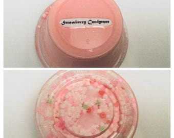 Strawberry Candy Cane - Floam Slime - Candy Cane Scented
