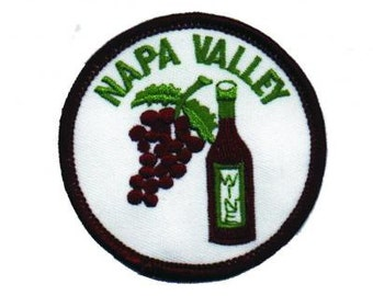 Napa Valley Wine Patch - California (Iron on)