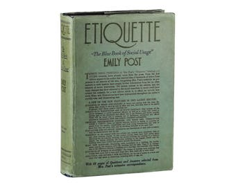 Etiquette ~ SIGNED by EMILY POST ~ 1934 Hardcover in Dust Jacket ~ New Edition