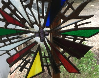 Cross Religious Symbol Slag or Stained Glass excellent
