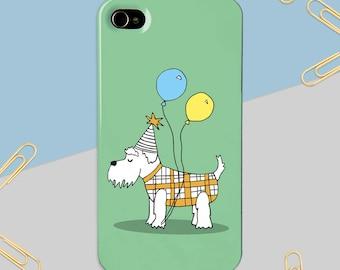 Schnauzer Phone Case - iPhone Case - Samsung Case - Phone Cover - Dog Phone Case - Gift for Her - Phone Case for Children