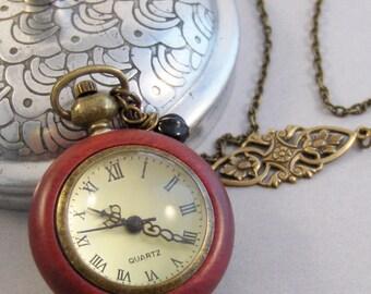 Wood Watch,Watch Pocket Watch,Wooden Watch,Wood Accessory,Wooden Jewelry Time,Steampunk,Steampunk Jewelry,Brass Watch,Bras Valleygirldesigns