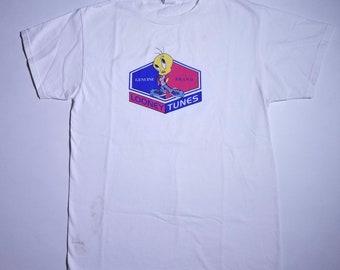 Genuine Brand Looney Tunes Tweety Bird Vintage White T Shirt M