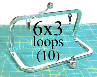 22% OFF 10 Nickel-free 6x3 purse frame(TM) with LOOPS