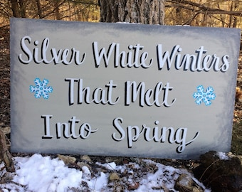 Winter to Spring Sign