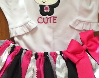 So Stinkin' Cute Skunk Tutu Outfit
