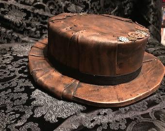 Copper Patchwork Steampunk Hat