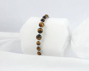 Bracelet beads Tiger Œil.