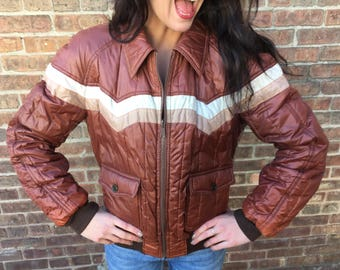 Reversible Leather Jacket Brown 1980's