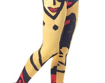 Ernst - Printed Leggings / Abstract print / Artwork design / Poster Print / Kirchner / Art Print / Hipster / Active wear / Made in EU