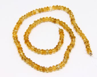 Faceted Rondelle Citrine Beads - STONE 056