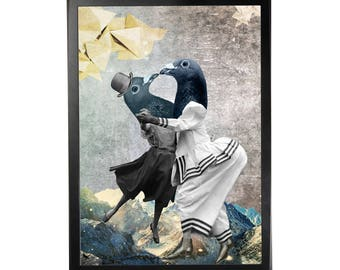 Art print poster collage DADA #4 in A3 (29, 7x42cm)