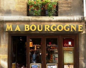 French Art Photo, Paris bistro photography, Paris cafe photograph, 5x7 Fine Art Photograph, charming French Parisian decor