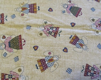 Free Shipping! Country Angels by Spring Industries. 1/2 Yard. 17105