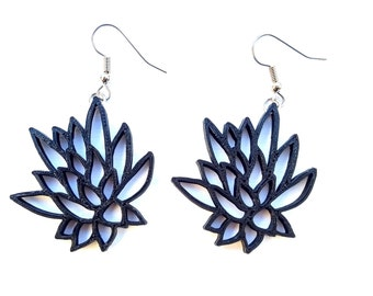 3D printed Succulent Earrings