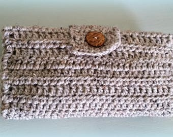 Crocheted Diaper and Wipe Case