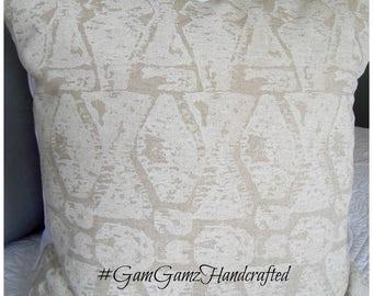 Natural.Cream.Pillow Cover.Slipcovers.Toss Pillows.Geometric.Tribal.Home Decor.Pillows.