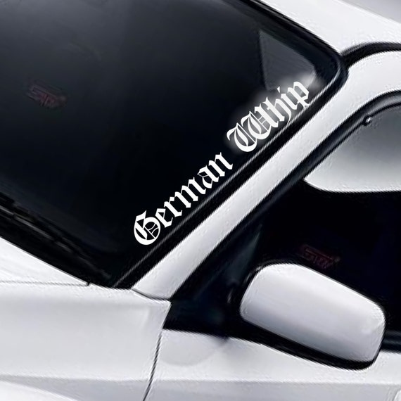 German whip windscreen sticker v2 windshield banner funny