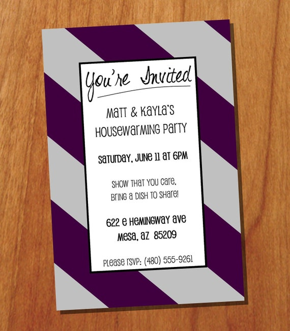 Housewarming Party 4x6 Custom Printable Invitation Digital
